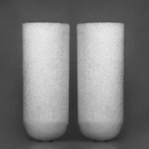 Mikro-Filterkerze aus Borosilikatglas zylindrisch