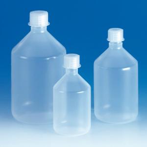 Enghals-Steilbrustflasche aus PP mit Schraubverschluss