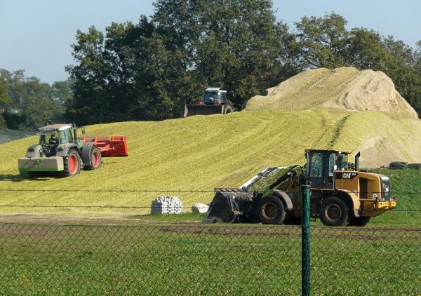 Biomassehaufen-Biogasanlage