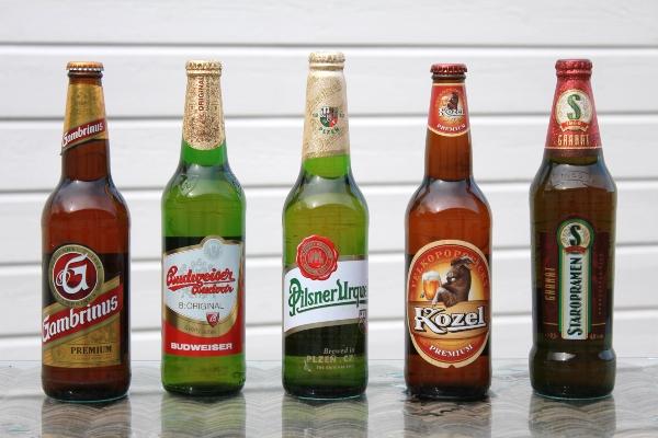 Auswahl beliebter tschechischer Biere