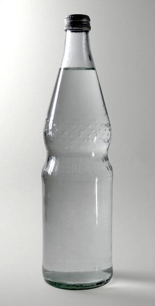 Normbrunnenflasche Mineralwasser gewinde-aus-glas