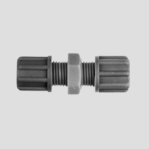 Gerader-Schlauchverbinder aus PP oder PVDF leittfaehig und antistatisch