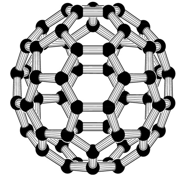 Struktur des C60-Fullerens Fullerene