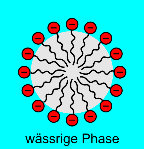 Mizelle in einer Tensidloesung Synthetische Tenside