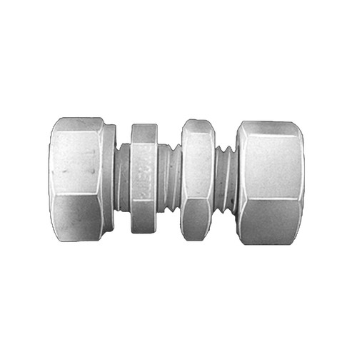 Straight Pipe Connector made of PVDF - Bulkhead