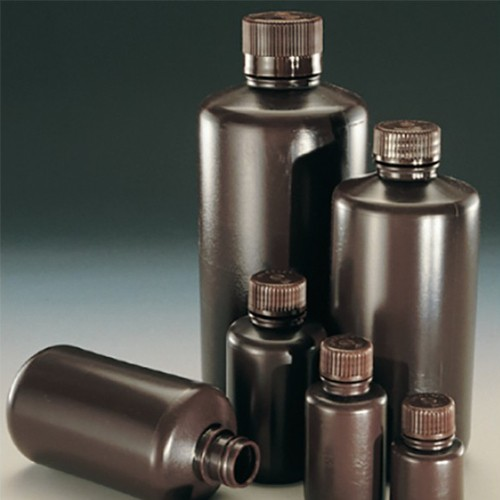 Narrow-Neck High Shoulder Bottle made of HDPE - brown