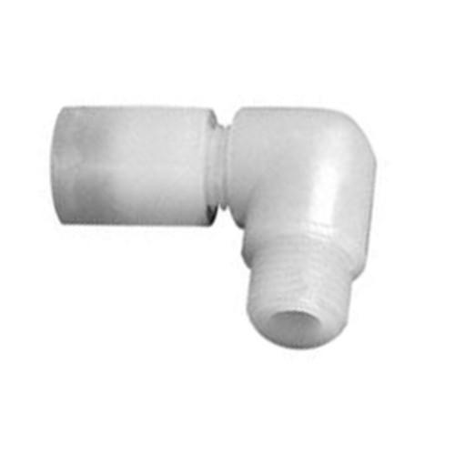 Winkel-Rohrverbinder mit Außengewinde aus PFA