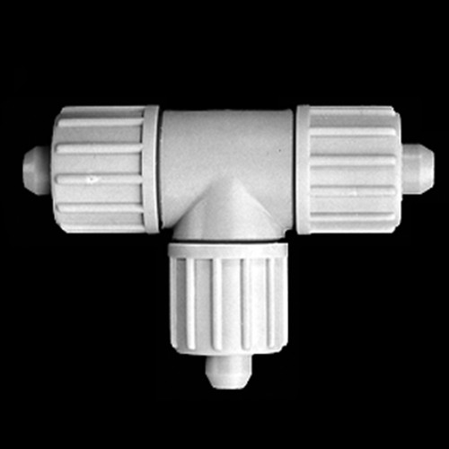 T-Shaped Connector made of PP or PVDF for Fabric Reinforced Tubing
