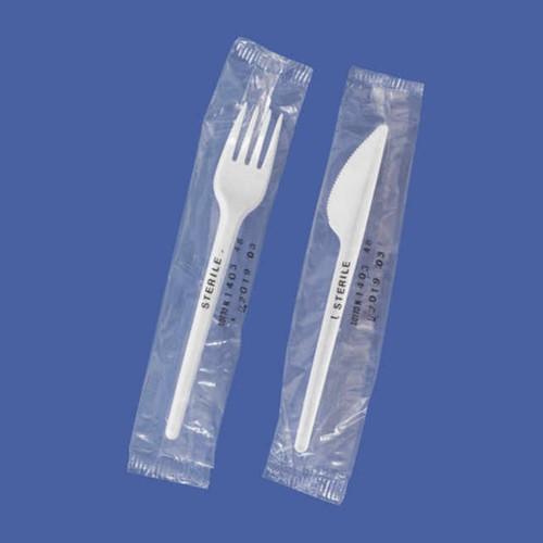 Messer und Gabel zur Probenhandhabung - steril