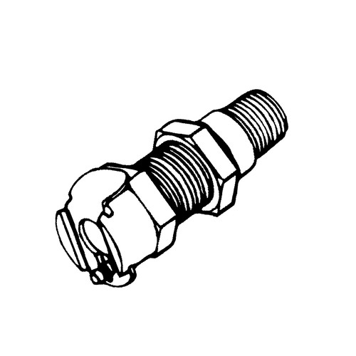 Quick-Disconnect Coupling made of Chromium-Plated Brass, NW 6.4 mm - Control Panel