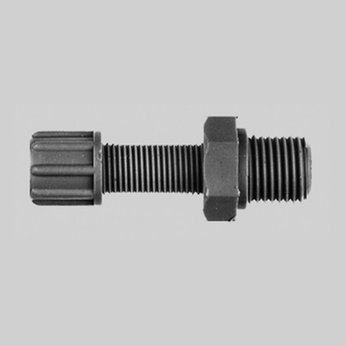 Straight Connector with Male Thread made of PP or PVDF - long