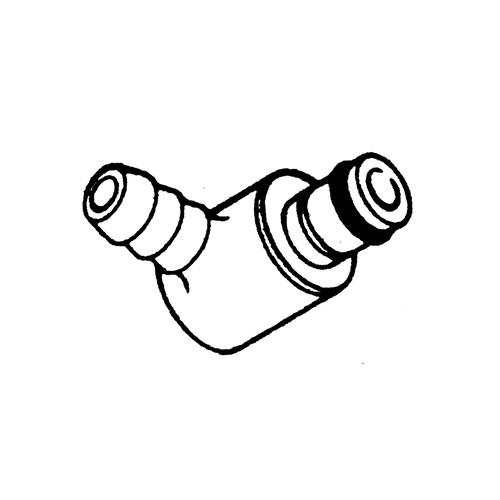 PP-Winkel-Schnellverschluss-Stecker, NW 3,2 mm