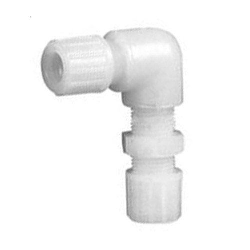 High-Pure Elbow Connector made of PFA - Bulkhead