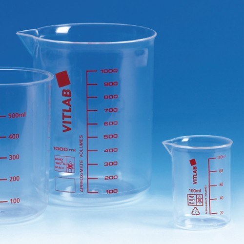 Beaker made of PMP (TPX)