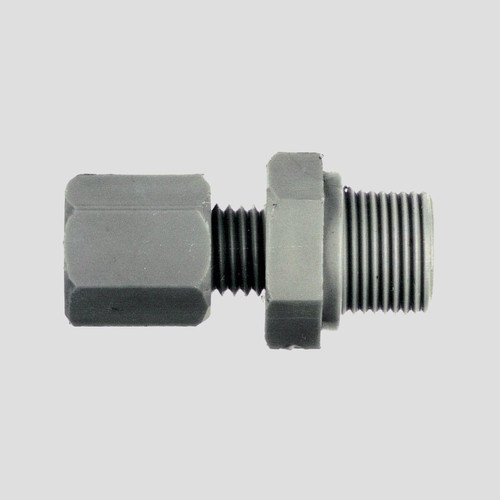 Straight Pipe Connector with Male Thread made of PP, PVDF or PTFE