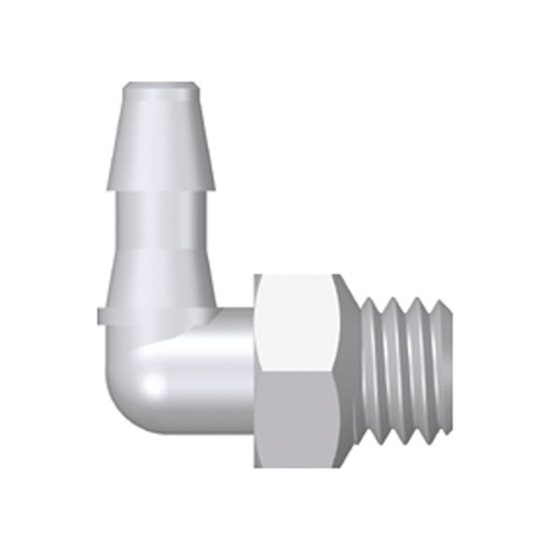 Mini Elbow Screw-in Connector with male thread UNF 10-32 - short