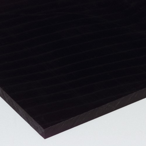 Plate made of POM - black