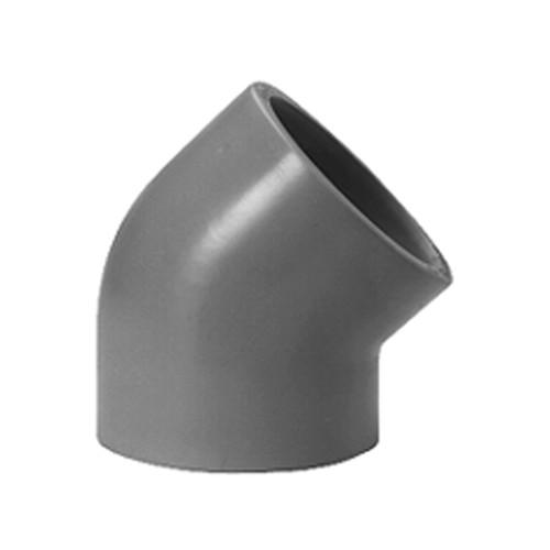 Winkel-Verbinder 45° mit Schweißmuffe aus PP