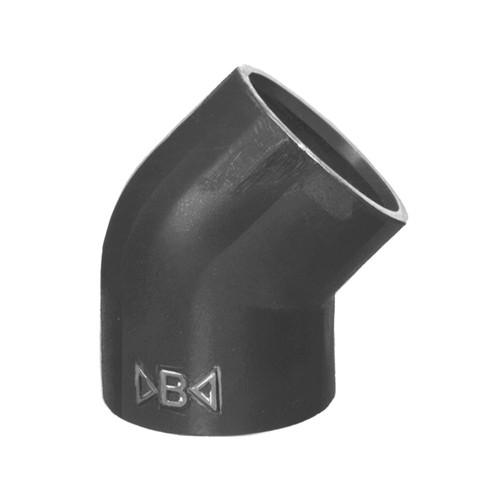 Winkel-Verbinder 45° mit Schweißmuffe aus PVDF