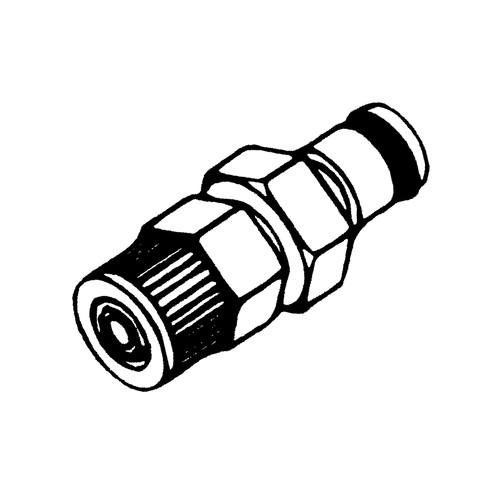 POM-Schnellverschluss-Stecker, NW 6,4 mm
