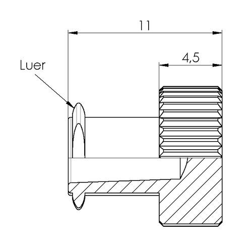Luer-Adapter (weiblich)