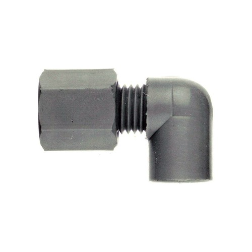 Elbow Pipe Connector with Female Thread made of PP, PVDF or PTFE