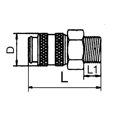 Mini Quick-Disconnect Coupling, NW 1.8 mm - shutting-off