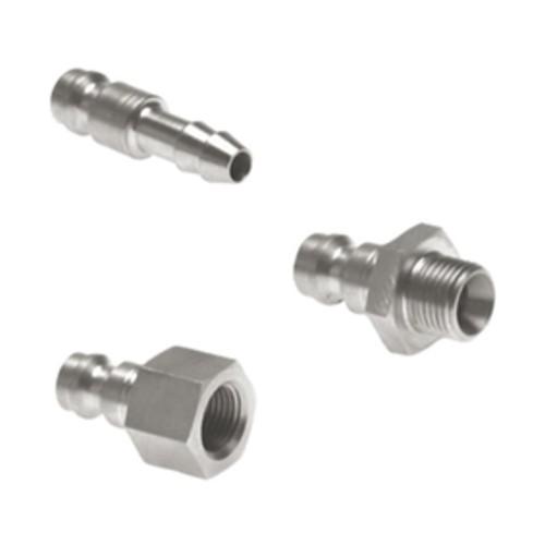 Schnellverschluss-Stecker aus Edelstahl, NW 2,7 mm - einseitig absperrend