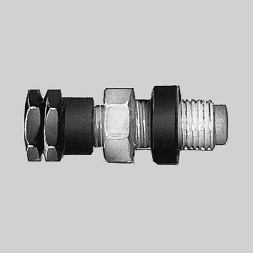 Straight Connector with Female Thread made of PTFE - Bulkhead