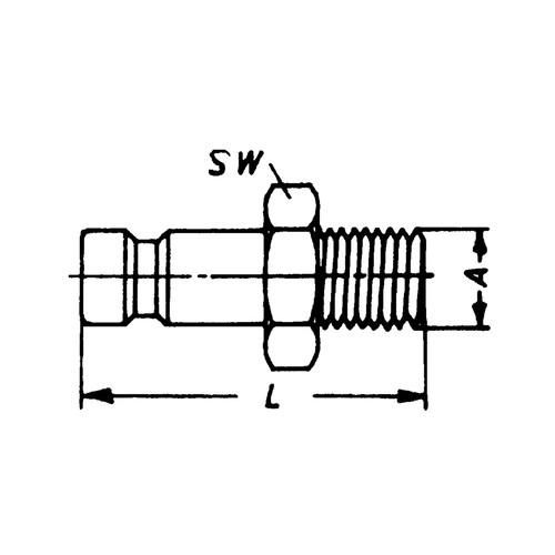 Schnellverschluss-Stecker aus Messing-vernickelt, NW 5 mm - einseitig absperrend