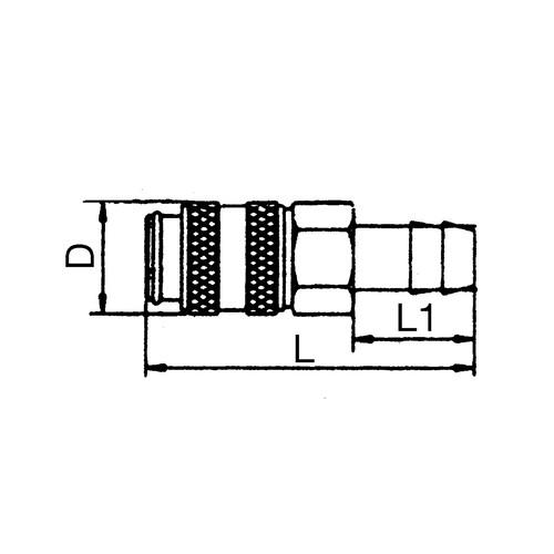 Mini-Schnellverschlusskupplung, NW 1,8 mm - absperrend
