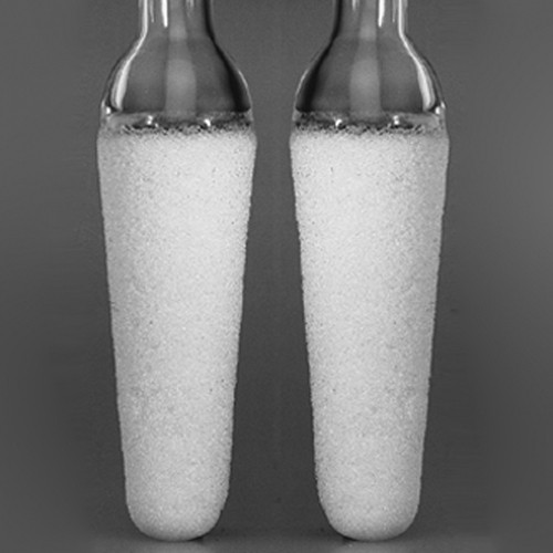 Mikro-Filterkerze aus Borosilikatglas - konisch, mit Rohr
