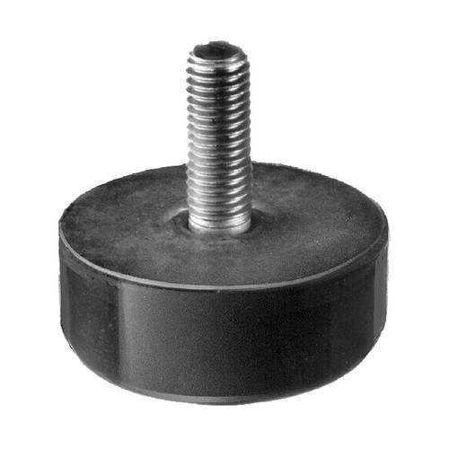 Rubber-Metal Bump Stop - straight, with external thread