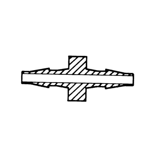 Mini-Schlauchtülle - mit Steg