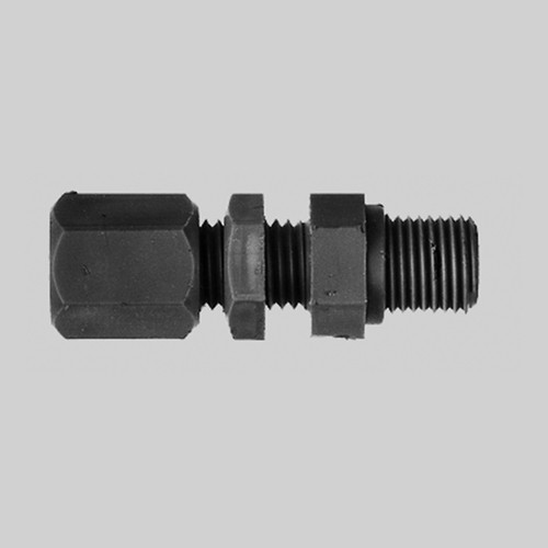Straight Pipe Connector with Male Thread made of PP, PVDF or PTFE - Bulkhead