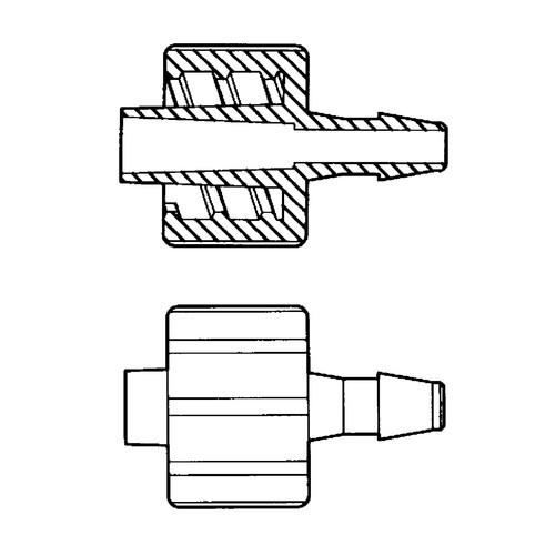 Luer-Lock-Schlauchadapter (männlich) für weiche Schläuche
