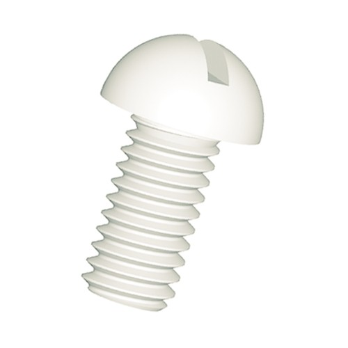 Slotted Round Head Screw made of PA