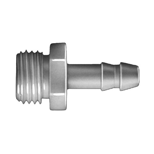 Straight Barb Connector with Male Thread made of PVDF