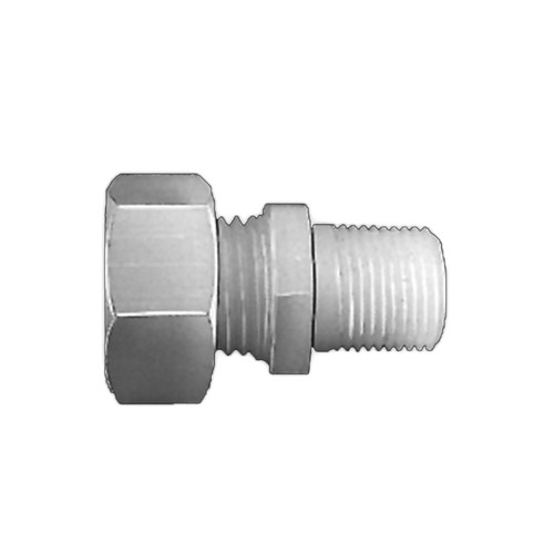 Straight Pipe Connector with Male Thread made of PVDF