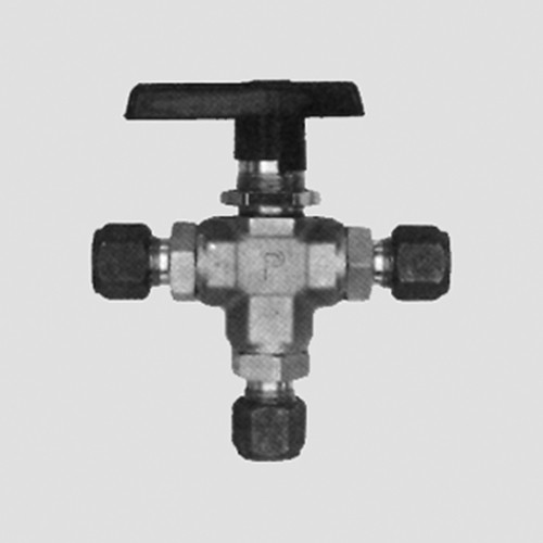 Three-Way Ball Valve made of Brass or Stainless Steel
