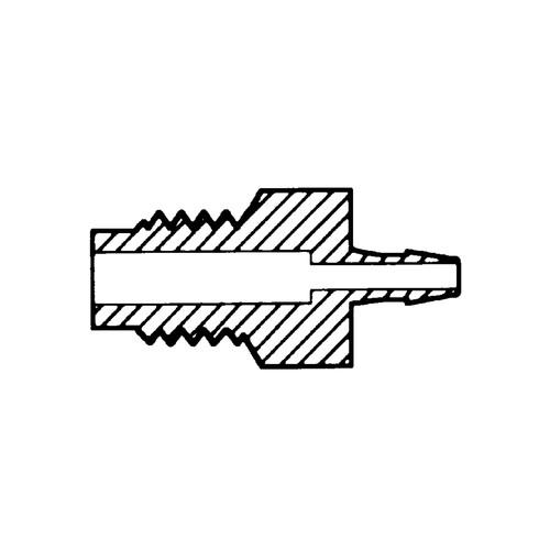 Mini-Schlauchtülle mit Außengewinde M6x1