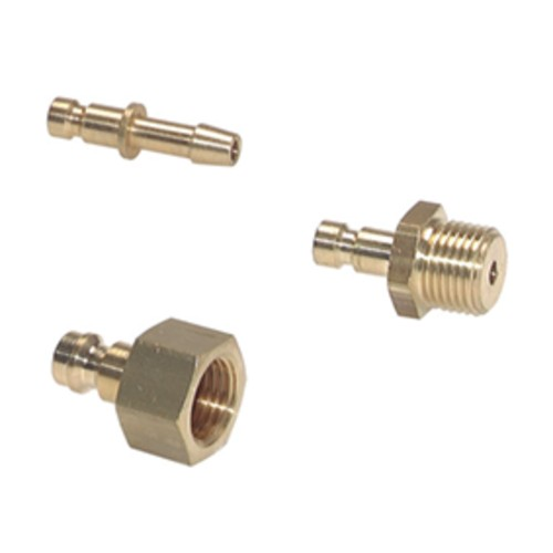 Schnellverschluss-Stecker aus Messing-vernickelt, NW 2,7 mm - einseitig absperrend
