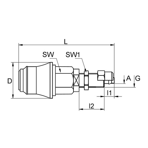 PVDF Quick-Disconnect Coupling, NW 5.0 mm - Control Panel