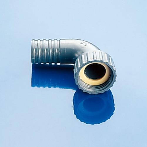 Winkel-Schlauchtülle mit Innengewinde aus PP - makro