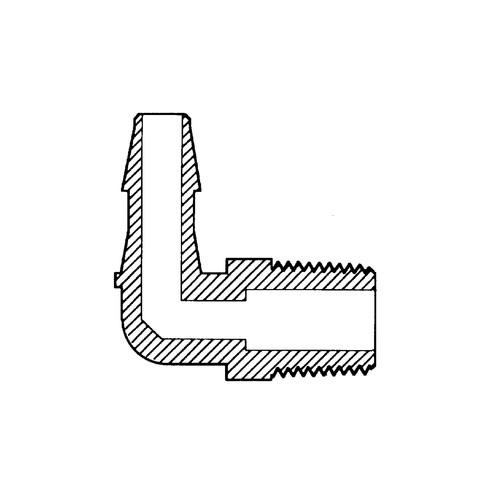 """Mini-Winkel-Schlauchtülle mit Außengewinde NPT 1/8"""""""