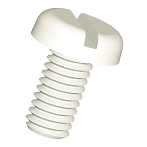 Slotted Pan Head Screw (DIN 85) made of PP