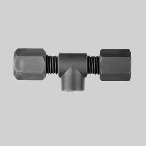 T-Rohrverbinder mit Innengewinde aus PP, PVDF oder PTFE