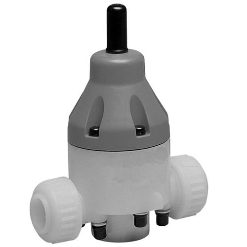 Druckhalteventil aus PVDF - rückdrucksicher