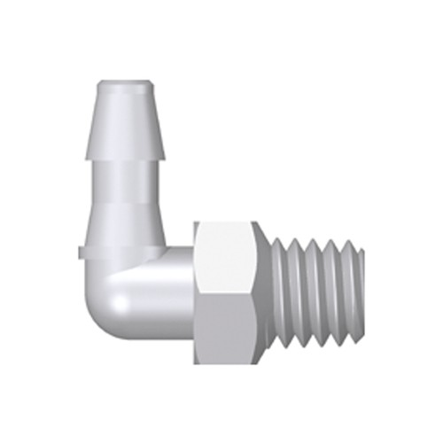 Mini Elbow Screw-in Connector with male thread UNF 10-32 - long