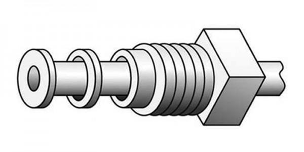 Gerader-Kapillar-Verbinder mit Außengewinde aus PTFE